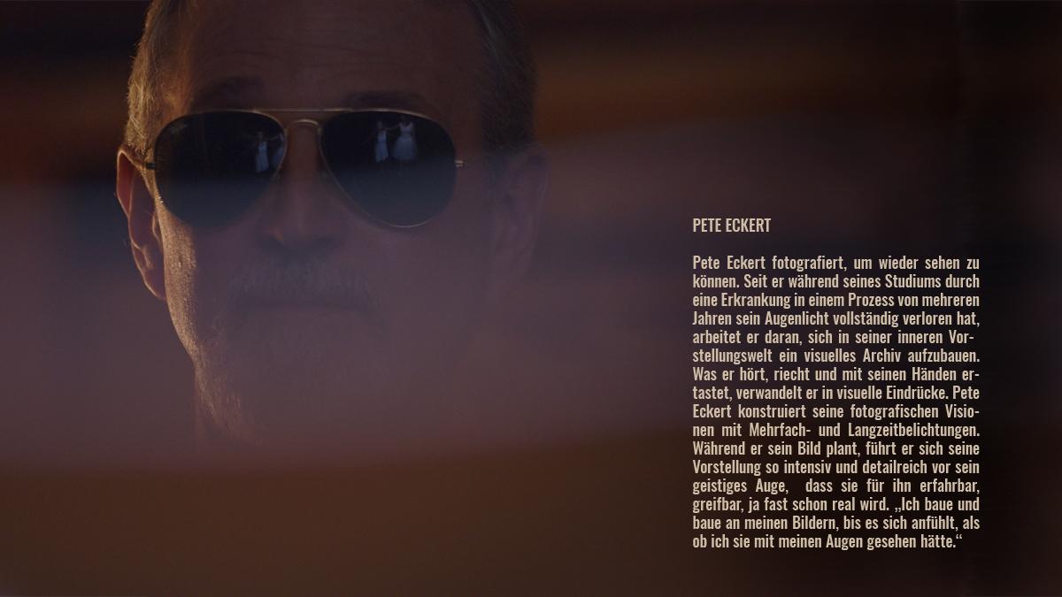Pete Eckert mit Sonnenbrille