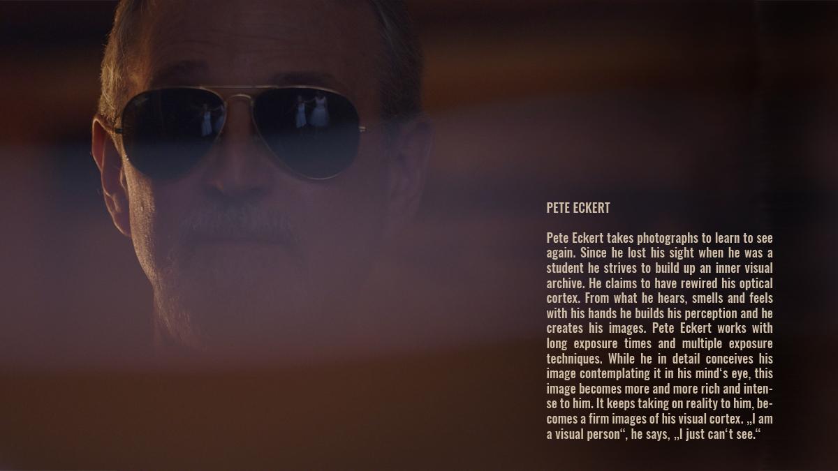 Pete Eckert wearing sunglasses